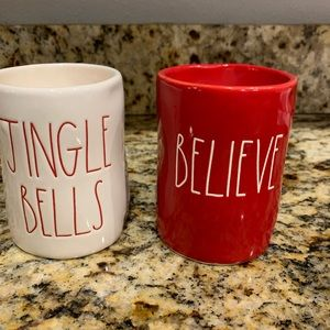 rae dunn Jingle Bell & Believe Candles
